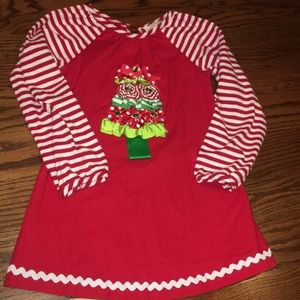 EUC Rare Editions Christmas Tree Peppermint Dress